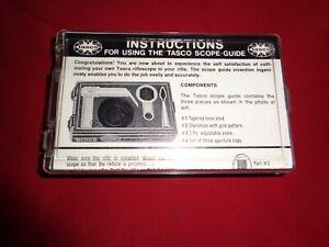 Vintage Tasco Scope Guide.
