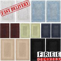 Bath Mat Set 2 Piece Rug Cotton Reversible Shower Floor Tub Rug Bathroom Carpet