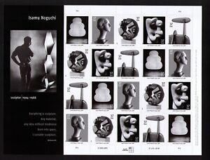 USA Sc# 3857 3858 3859 3860 3861 Sculptor ISAMU NOGUCHI Pane of 20 Stamps - MNH