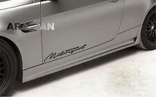 MOTORSPORT Racing Decal Sticker sport car door logo emblem auto performance 2pcs