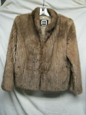 Saga Mink Brown Mink Fur Jacket size small lot S2