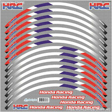 HONDA CBR HRC Racing Wheel Rim Decal Stickers Stripes Set Laminated 600RR 1000RR