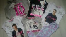 NEW XMAS 8x ONE DIRECTION BUNDLE GIRL CLOTHES HOODIE T-SHIRTS PYJAMA  6/7 YRS 7Y