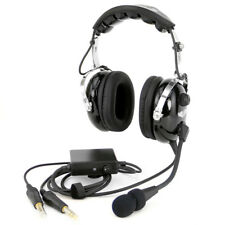 Rugged Air RA950 Stereo ANR General Aviation Pilot Headset w/ GA Dual Plug Cable