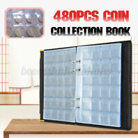 480Pcs 20 Page Coins Storage Book Commemorative Coin Collection Album Holder