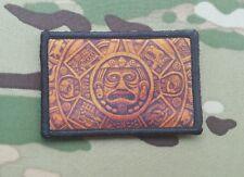 Aztec Calendar Flag Morale Patch Jaguar Eagle Warrior Mexico Mexican