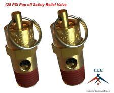 "1/4"" NPT 125 PSI Air Compressor Safety Relief Pressure Valve, Tank Pop Off 2pc"