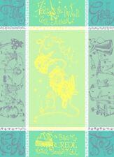 """GARNIER THIEBAUT, """"MERCREDI L'ETE""""  (WEDNESDAY/ SUMMER) FRENCH KITCHEN TOWEL(S)"""