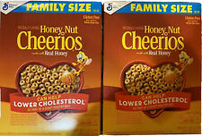 Honey Nut Cheerios Cereal 2 Boxes Family Size 19.2 oz Gluten Free Real Honey Box