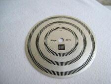 original Dual Stroboskopscheibe für Plattenspieler 33/45/78, 50/60 Hz
