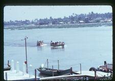 Org 35mm photo slide 1973 boat in Coatzacoalcos Mexico