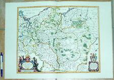 Polen Poloniae Preußen Pommern Schlesien alte Landkarte Reproduktion 60 x 43 cm