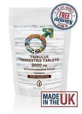 Tribulus Terrestris 2000mg 10:1 Extract Veg Tablets Pills UK