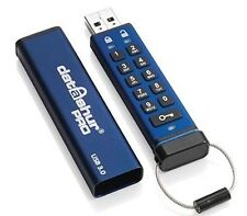 ISTORAGE DATASHUR PRO 64gb USB 3.0 MEMORIA FLASH PEN DRIVE - Azul