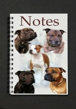 Staffordshire Bull Terrier Dog Notebook/Notepad -  small image on every page