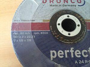 Grinding Dronco Perfect Metal A24 R-BF Discs 25x 180x3x22 ArtNo:1182015 NEW