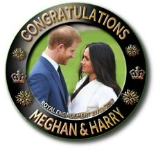 "PRINCE HARRY~MEGHAN MARKLE~ ROYAL ENGAGEMENT SOUVENIR ~2.2""/55 mm BADGE"