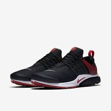 Rendimiento para hombre Nike Air Max Essential presto Negro Gimnasio Rojo Calzado para Correr UK6