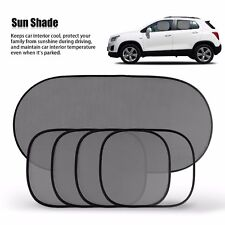 5 Pcs/Set Black Window Mesh Cover Windshield Car Rear Side Sunshade Visor Block