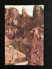 Vintage Real Photo Postcard #TP1473 Rugged Battlements Castle Rock Cheddar Gorge