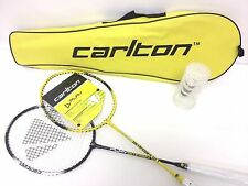 New Carlton Badminton Set 2 Players 2 Rackets & 3 Shuttlecocks in Case