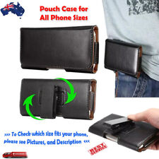 Flip Leather Pouch Case 360° Rotating Belt Clip iPhone Samsung Huwaei Google LG