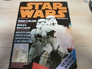 STAR WARS - OFFICIAL POSTER MONTHLY MAGAZINE - ISSUE 1 - UK EDITION 1977 Average