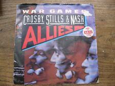 "VG+  CROSBY STILLS & NASH - War Games / Shadow captain -  7"" single"
