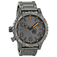 Nixon 51-30 Tide Grey Dial Steel Mens Watch A0571235