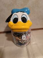 Vintage-modern Junk Drawer Lot, Donald Duck Jar Full Of Cool Collectables