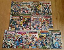 Lot of 13 INVADERS Baron Blood Union Jack KEY 1st APPEARANCE Schomburg Kirby
