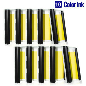 10PK Compatible for Canon Selphy KP-108IN Ink Selphy CP1300 CP1200 CP910 Printer