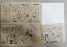 (312) Chief Wahoo Dailies by Saunders & Woggon from 1937 Size: 6 x 7 Inches