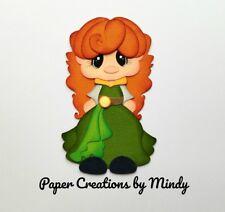 CRAFTECAFE MINDY Disney Princess Merida premade paper piecing scrapbook DIECUT