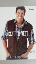 Panda Pattern Leaflet #601 Adult Knitted Vest in Magnum 8 Ply