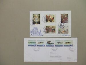 Two Peru covers with complete sets.One is fdc