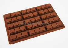 21g 15 cell 3 Finger Section Rectangular Silicone Chocolate Bar Mould N080 Wax