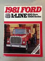 1981 Ford L-Line 600 Thru 7000 Series Best-Selling Big Trucks Brochure