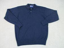 VINTAGE Ralph Lauren Polo Sweater Adult Extra Large Blue Cashmere Mens A31*