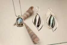 OR PAZ .925 Sterling Silver 2 pc. Gemstone Set, Made in Israel