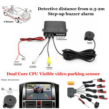 Car Video Parking Reverse Backup Assistant Radar Alarm System+Flat Sensor Device