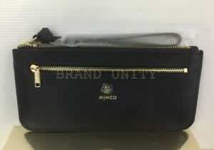 Mimco Currency Pouch BNWT Ink Blue Dust Bag Free post