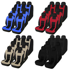 7-Seats Car Seat Cover Front Rear Head Rests Universal for MPV Business Mini Van