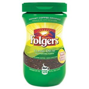 Folgers Instant Coffee Crystals Decaf Classic 8 oz 20630