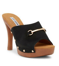 New Zhonya-4 Open Toe Horsebit Clogs Mules Slip on high heel Women shoes Size 10