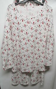 Croft & Barrow women plus size 2X Multicolor 2 piece pajamas long sleeve Lot#18