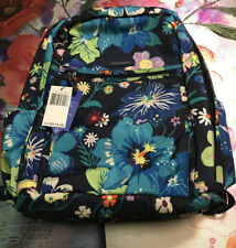 New Vera Bradley Lighten Up Grand Backpack Firefly Garden Retail $115