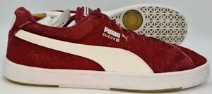 Puma Suedes Classic Low Suede Trainers Red/White 356414 36 UK11/US12/EU46
