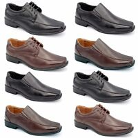 b28c13b0055 MENS BOYS SMART WEDDING SHOES ITALIAN FORMAL OFFICE CASUAL PARTY LEATHER  SIZES