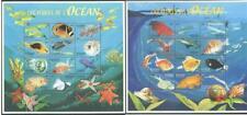 [DJ] DJIBOUTI 2000 - FISH AND MARINE LIFE CREATURE OF THE OCEAN 2 X/L SHEETS.